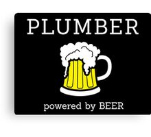 Plumber powered by beer Canvas Print