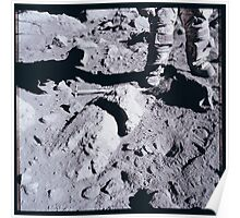 Apollo Archive 0168 Moon Footprints on Lunar Surface Poster