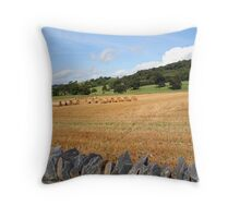 North Wales Countryside Throw Pillow