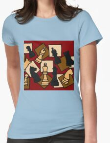 Awesome Chess Piece Art Abstract Original Womens Fitted T-Shirt