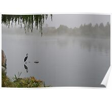 One Foggy Morning at the Lake Poster