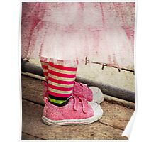 Sparkly Pink Tennis Shoes Poster