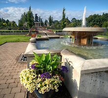 Water Fountain & Floral Decoration by Don Guindon