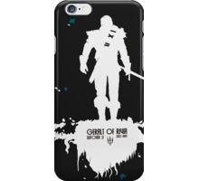 Witcher 3 black shirt geralt of rivia iPhone Case/Skin