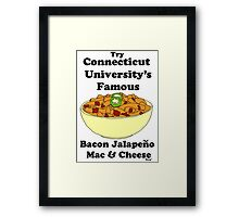 connecticut university's mac and cheese Framed Print