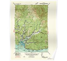 USGS Topo Map Washington Brookfield 240240 1940 62500 Poster