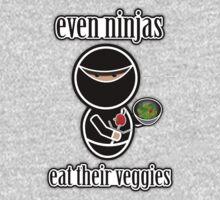 Even Ninjas Eat Their Veggies One Piece - Long Sleeve