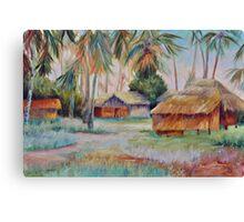 Hut Village in Mambasa Canvas Print
