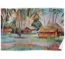 Hut Village in Mambasa Poster