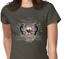 crow merlot Womens Fitted T-Shirt