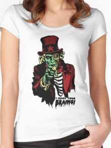 Zombie Uncle Sam Women's Fitted Scoop T-Shirt