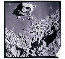 Apollo Archive 0151 Moon Craters from Orbit Poster