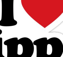 I Love Heart Hippos Sticker Sticker