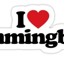 I Love Heart Hummingbirds Sticker Sticker