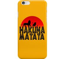 HAKUNA MATATA (day edition) iPhone Case/Skin