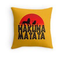 HAKUNA MATATA (day edition) Throw Pillow