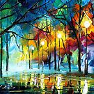 BLUE REFLECTION - LEONID AFREMOV by Leonid  Afremov