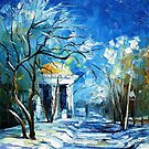 WINTER SUN - LEONID AFREMOV by Leonid  Afremov