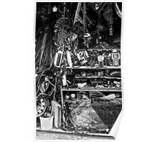 cluttered garage  Poster