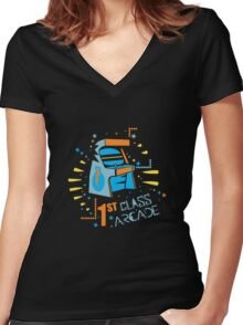 Arcade Machine Women's Fitted V-Neck T-Shirt