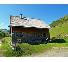 A House in the Alps. Photographic Print