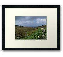 Down The Hill To An Port Framed Print