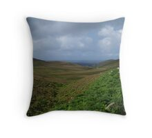 Down The Hill To An Port Throw Pillow