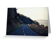 Country Roads (With a View to the Hills) Greeting Card