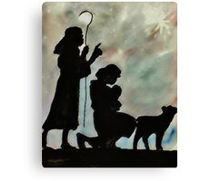 Shepards by night, watercolor Canvas Print