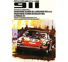 Vintage Racing Porsche 911 Photographic Print