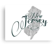 New Jersey State Typography Canvas Print