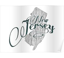 New Jersey State Typography Poster