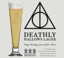 Deathly Hallows Lager (dark text) by Steve Hryniuk