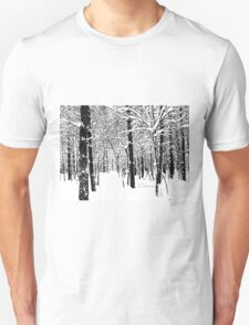 Black and White Winter Forest T-Shirt