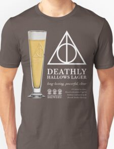 Deathly Hallows Lager (light text) T-Shirt