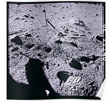 Apollo Archive 0078 Moon Footprints and Astronaut Shadow on Lunar Surface Poster