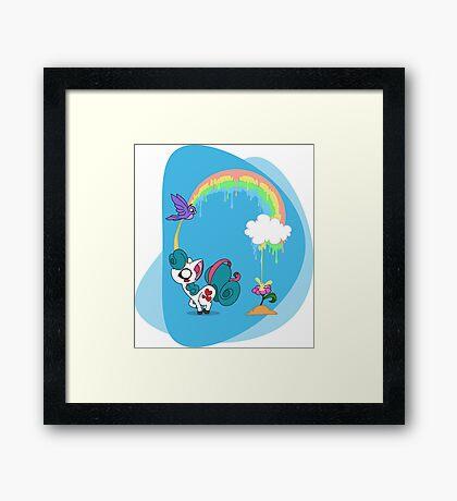 The secret of rainbow Framed Print