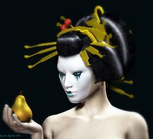 The Golden Pear by Sandra Bauser Digital Art