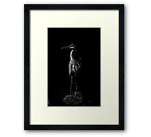 Blue in Black and White Framed Print