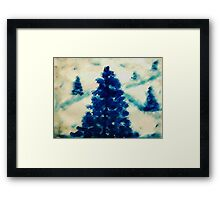 Time to go cut down a tree?  watercolor Framed Print
