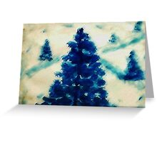 Time to go cut down a tree?  watercolor Greeting Card