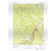 USGS Topo Map Oregon Surveyor Mtn 282920 1955 62500 Poster