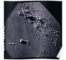 Apollo Archive 0146 Moon Craters from Orbit Poster