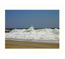 Riding the Surf at Hatteras  Art Print