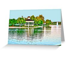 Harveston Lake with a Splash of Color Greeting Card