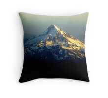 Mt Hood from Up Above Throw Pillow