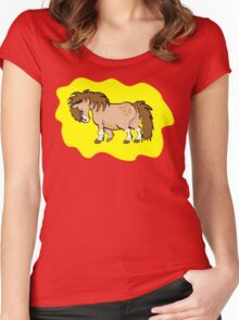Mini Pony Tee Women's Fitted Scoop T-Shirt