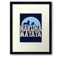 HAKUNA MATATA (night edition) Framed Print