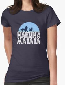 HAKUNA MATATA (night edition) Womens Fitted T-Shirt