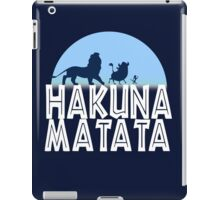 HAKUNA MATATA (night edition) iPad Case/Skin